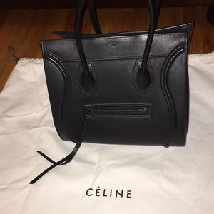 Celine black medium phantom tote